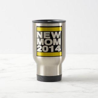 New Mom 2014 Yellow Travel Mug