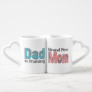 New Mom and Dad Couples Mug Set