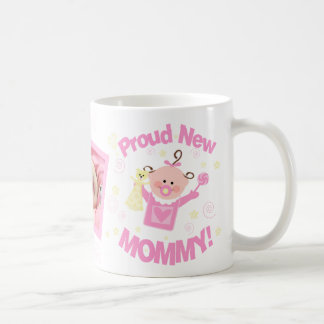New Mom Baby Girl Custom Photo Mug