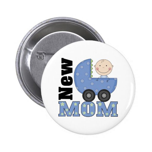 New Mom Pinback Buttons