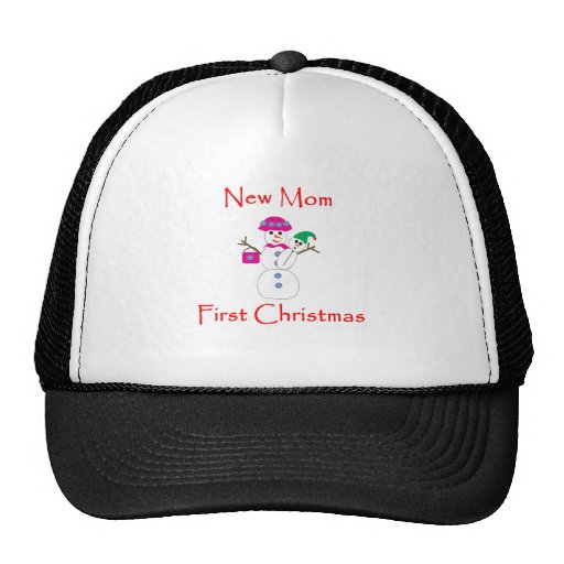 New Mom First Christmas Hat