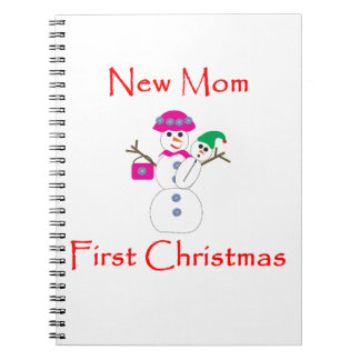 New Mom First Christmas Notebooks