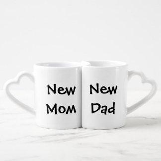 """New Mom/New Dad"" Nesting Mug Set Lovers Mugs"