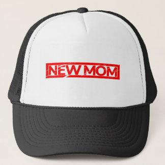 New Mom Stamp Trucker Hat