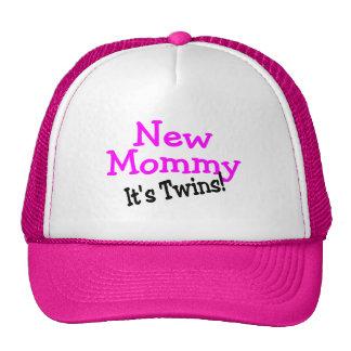 New Mommy Twin Girls Trucker Hat