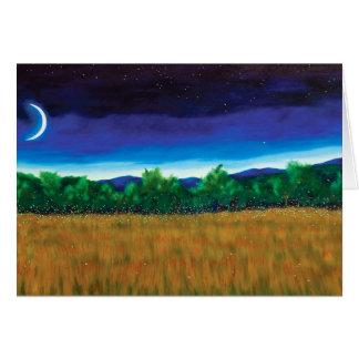 New Moon Fireflies Card