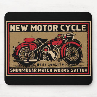 New Motorcycle Safety Match Label Mouse Pad