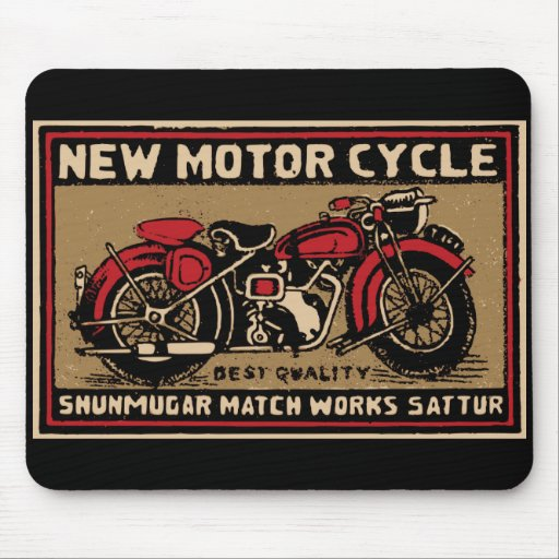 New Motorcycle Safety Match Label Mouse Pads