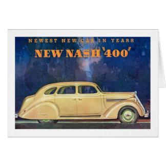 "New Nash ""400"" Card"