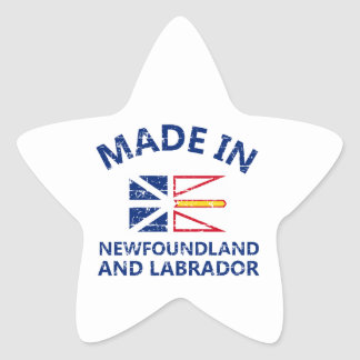 New Newfoundland and Labrador Coat of arms Star Stickers