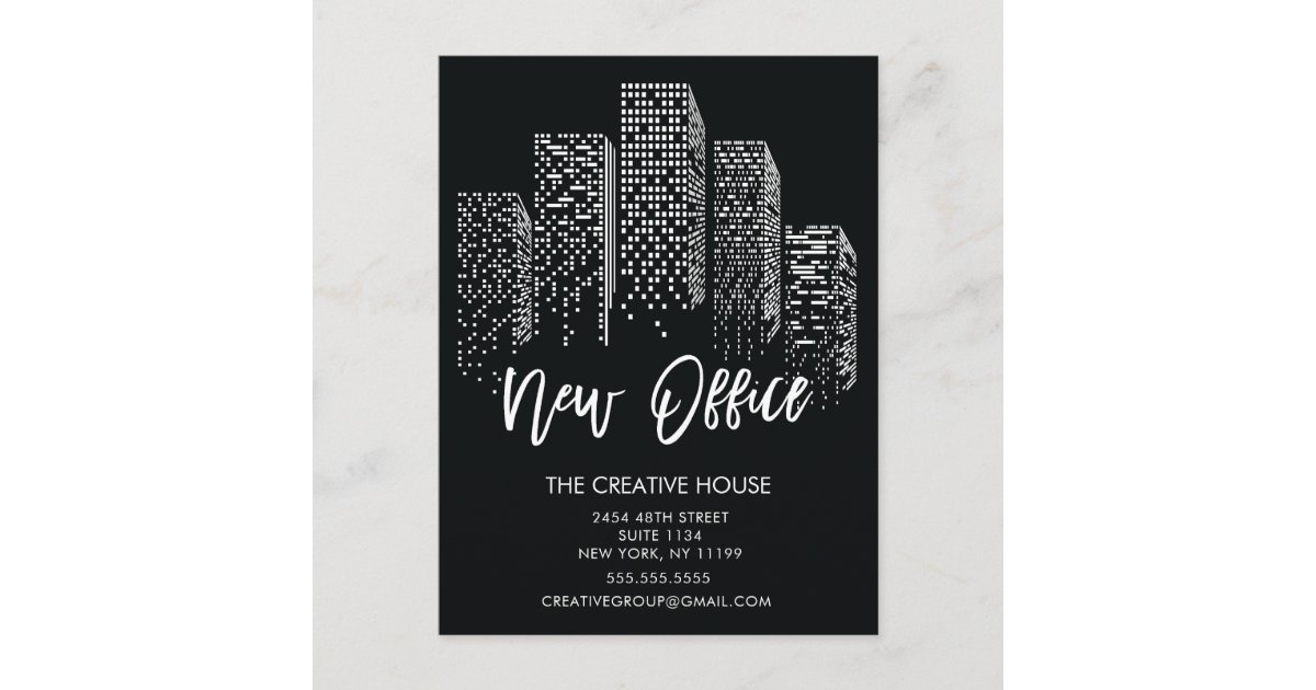 new office moving announcement post card zazzle ca