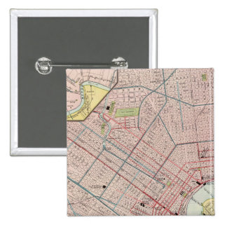 New Orleans 2 2 Inch Square Button