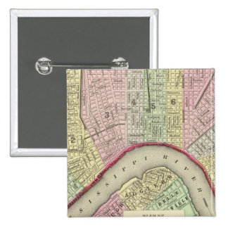 New Orleans 4 2 Inch Square Button