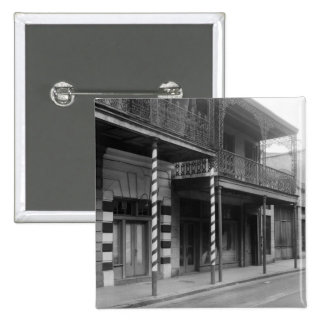 New Orleans Barbershop, 1930s 2 Inch Square Button