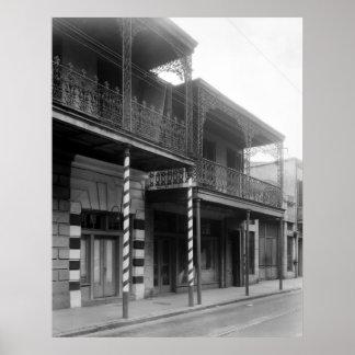 New Orleans Barbershop, 1930s Poster