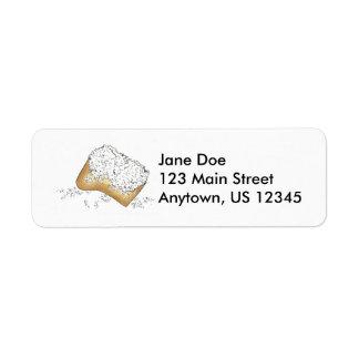 New Orleans Beignet Beignets Donut Pastry Labels