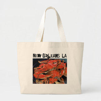 New Orleans boiled seafood tote. Large Tote Bag