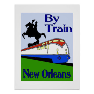 New Orleans by Train Poster