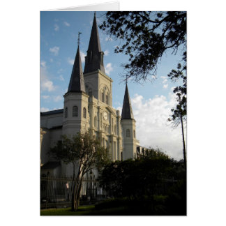 New Orleans Cathedral, French Quarter Card