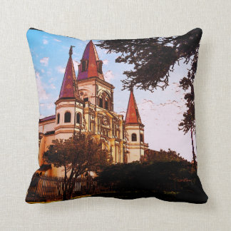 New Orleans Cathedral Old Look Throw Pillow