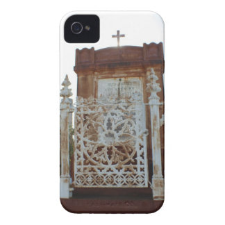 New Orleans Cemetery - Rusted Mausoleum iPhone 4 Case-Mate Case