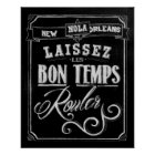 New Orleans Chalkboard Poster