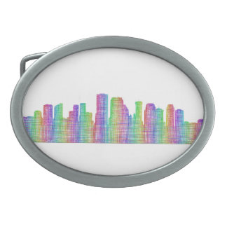New Orleans city skyline Belt Buckles