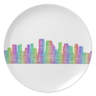 New Orleans city skyline Plate