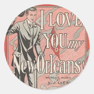 New Orleans Classic Round Sticker
