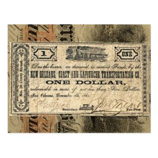 """New Orleans Coast """"Civil War"""" Antique Money Postcard"""