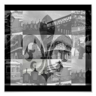 New Orleans Collage [Canvas Print] Square Poster