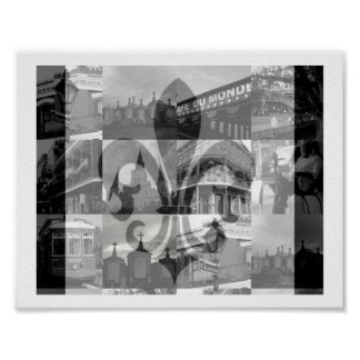 New Orleans Collage [Print] Poster