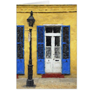 New Orleans Colors - Doors & Shutters Blank Card