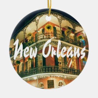 New Orleans Commemorative Keepsake Round Ceramic Ornament