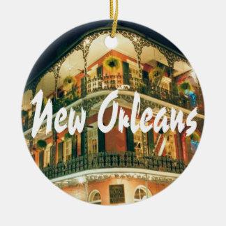 New Orleans Commemorative Keepsake Round Ceramic Ornament