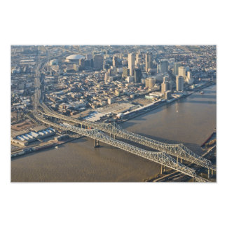 new Orleans Downtown Aerial Photographic Print