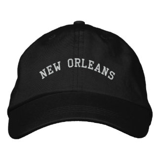 New Orleans Embroidered Basic Adjustable Cap Black