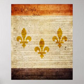 New Orleans Flag Poster