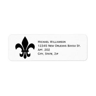 New Orleans Fleur de Lis Symbol Black Personalized