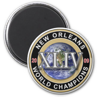 NEW ORLEANS - Football World Champions 2009 2 Inch Round Magnet