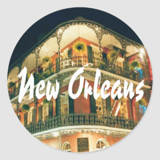 New Orleans French Quarter Classic Round Sticker