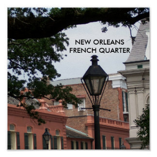 New Orleans French Quarter postage stamp Poster