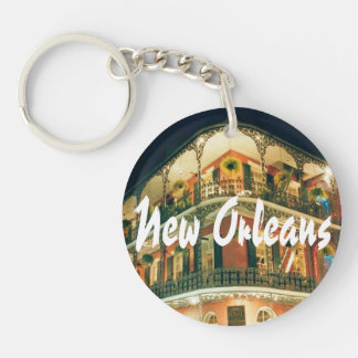 New Orleans French Quarter Single-Sided Round Acrylic Keychain