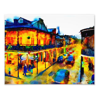 New Orleans, French Quarter, Watercolor Photo Art