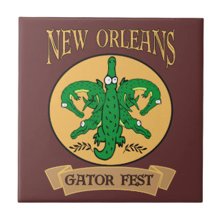 New Orleans Gator Fest Tile