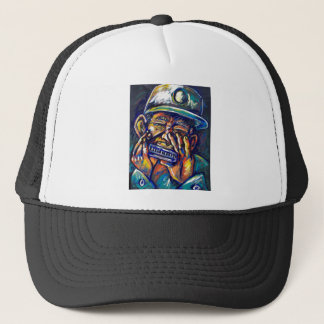 new orleans harmonica blues trucker hat