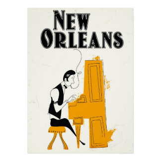 New Orleans Honky Tonk Poster
