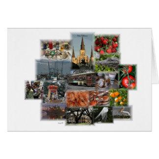 New Orleans Landmarks and Cusine Card