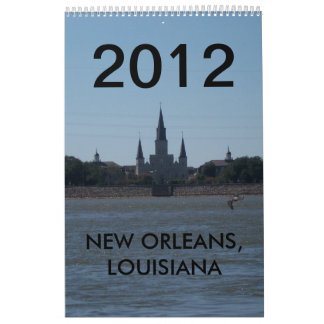 NEW ORLEANS, LOUISIANA 2012 WALL CALENDAR