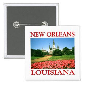 New Orleans Louisiana 2 Inch Square Button